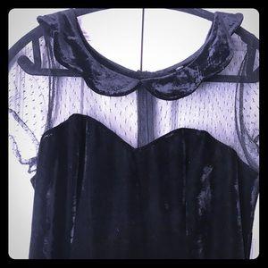Gothic stretch velvet dress